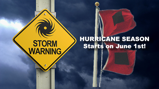 Hurricane Storm Warning Graphic